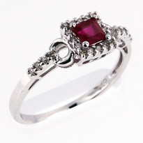 Ruby .35ct Ring White Gold