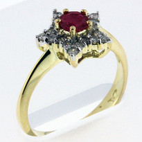 Ruby .44ct Ring Yellow Gold
