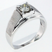 Diamond .52ct Men's White Gold Ring