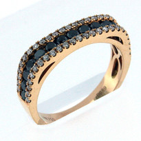 18kt Rose Gold,.26ct black diamond Wedding Band