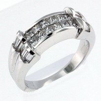 1.28ct Diamond Wedding Band