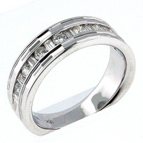 18kt White Gold, .50ct  Diamond Wedding Band