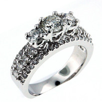 14k White Gold Engagement Ring with .56ct Center diamond