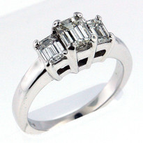 14kt White Gold Engagement Ring with .58ct Center Diamond