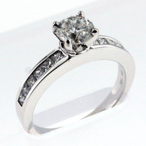 14kt White Gold Engagement Ring with .75ct Center Diamond
