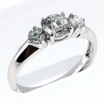 18kt White Gold Engagement Ring with .58ct Center Diamond