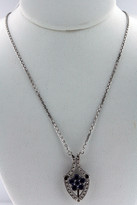 Necklace .69ct Sapphire  Diamond Necklace 14k White Gold