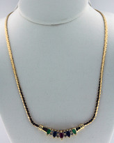 Diamond .24ct Necklace 14k Yellow Gold