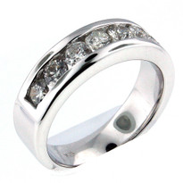 14kt White Gold, 1.82ct Diamond Wedding Band-Men's