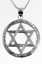 14kt White Gold Jewish Star