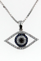 14kt White Gold Diamond Evil Eye