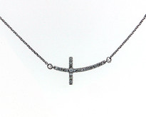 Diamond .22ct Cross pendant
