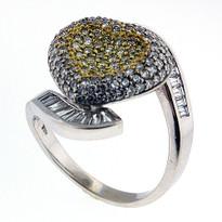 3.12ct Diamond Heart Ring in White Gold