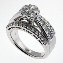 2.54ct Diamond Clocktail  Ring in White Gold