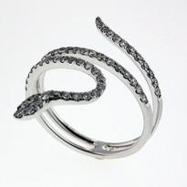 Diamond .51ct Snake  Ring in White Gold