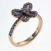 Diamond .57ct Butterfly Ring in Rose Gold