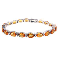 14kt White Gold Citrine Bracelet
