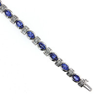 14kt White Gold Tanzanite & Diamond Bracelet