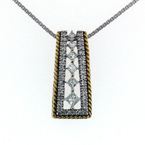 Diamond .62ct Pendant in 14kt Gold