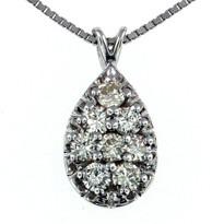 Diamond .86ct Pendant in 14kt Gold