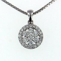 Diamond .56ct  Pendant in 14kt Gold