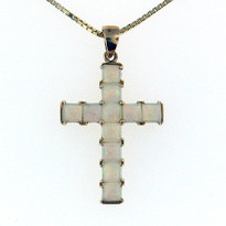 1.50ct Opal Cross Pendant