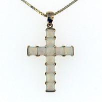 1.50ct Opal Cross Pendant