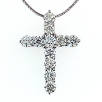 2.75ct Diamond Cross Pendant
