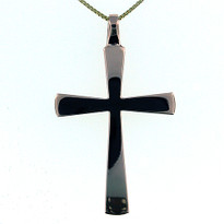 Cross plain in 14kt rose gold