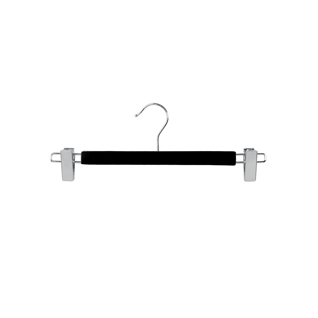 355cm Black Wooden Pant Hanger With Clips 12mm Thick Sold In 2550100