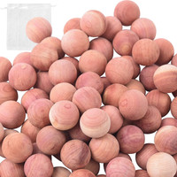 Cedar Balls for Clothes Storage and Drawers 100% Natural Aromatic Red Cedar Wooden Balls - Sold in  16/32/64/96/192 Balls