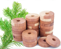 Aromatic Cedar Rings for Clothes Storage Sold in 6/18/30/54/72 Rings