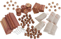 Cedar Storage Accessories Value Pack- 100% Natural Aromatic Red Cedar -  Set of 98/196/294 items