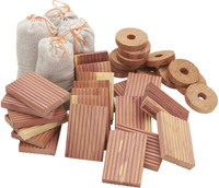 Cedar Storage Accessories Value Pack- 100% Natural Aromatic Red Cedar -  Set of 48/96/144 items