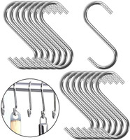 Small Size 4mm Thick S Metal Hooks - 304 Stainless Steel - Sold in 5/25/50