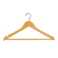 43CM Budget Beech Wood Suit Hangers With Bar 12mm Thick (Sold in 25/50/100)