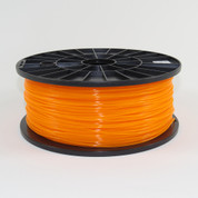 PLA filament, 1.75mm, translucent orange color