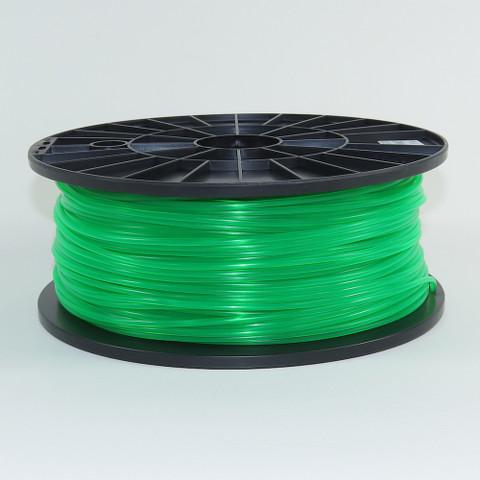 PLA filament, 3mm, fluorescent green