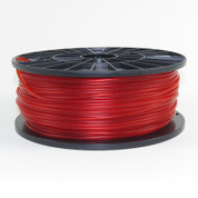 PLA filament, 3mm, translucent red color