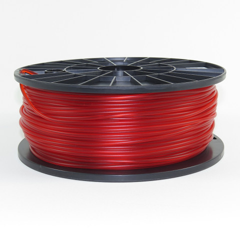 PLA filament, 3mm, translucent red color