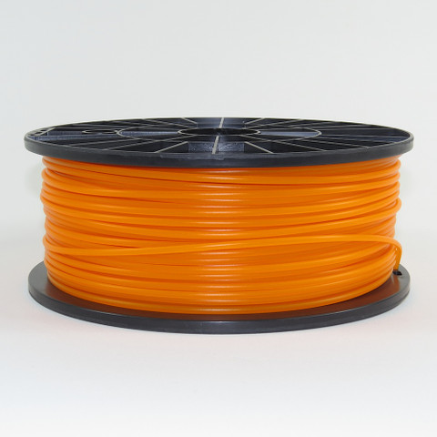 PLA filament, 3mm, translucent orange color