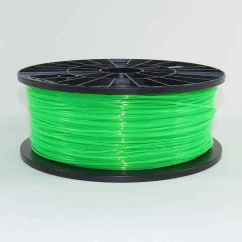 PLA filament, 1.75mm, fluorescent green