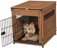 Radio Systems Mr.Herzher's Pet Residence  Dark Brown Wicker Large MH13402