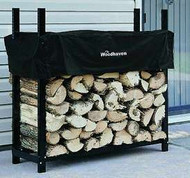 "Woodhaven Log, Firewood Rack & Cover 4""x4""x14"""
