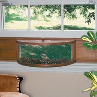 Coveside Panoramic In-House Window Bird Feeder with Mirrored  Glass Panel