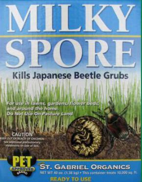 Milky Spore  Organic Japanese Beetle And Grub Control  Powder 40oz. Treats 10,000 Sq. Ft.  80040-6
