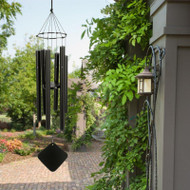 "The Soprano wind chime is our smallest chime, its sound is delicate yet brilliant. Claude Debussy, inspired by Balinese music at the 1896 Paris Exposition, began composing with this atonal Whole Tone scale, used for example in his piece ""La Mer"". Later, television's original Star Trek used it in the ""beaming up"" sequences. TV and film scores frequently feature it for underwater scenes, dream and ""flashback"" sequences. This chime is perfect for apartment dwellers or small patios. Soprano chimes measure 30 inch tall from the top of knot to the base of the windcatcher.     These enchanting wind chimes blend old world craftsmanship with the latest in technology - harmonizing art and science to uplift the spirit and delight the senses. Music of the Spheres® Windchimes with its matte black, powder coated aluminum-alloy tubing will never rust and will always look elegant. These wind chimes make great gifts and are an artistic addition to any garden. They are modern, functional, and simplistic in design. Group several wind chime sizes and tunings together to create your own symphony.     Whole Tone Soprano Chime:      Overall Length: 30""     Longest tube: 15""     Tube Diameter (O.D.): 7/8""     Weight: 2 lbs.     Manufacturer's Warranty: 7 years"