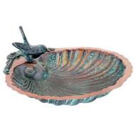 Achla Scallop Shell Birdbath, 10.75 Inch Diameter