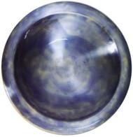 Achla Glossy Enamel Bird Bath Brass w/ Blue Finish