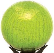 """Achla 10"""" Gazing Globe Fern Green Crackle"""